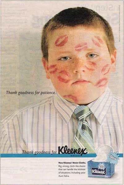 Bad advertising examples — Kleenex