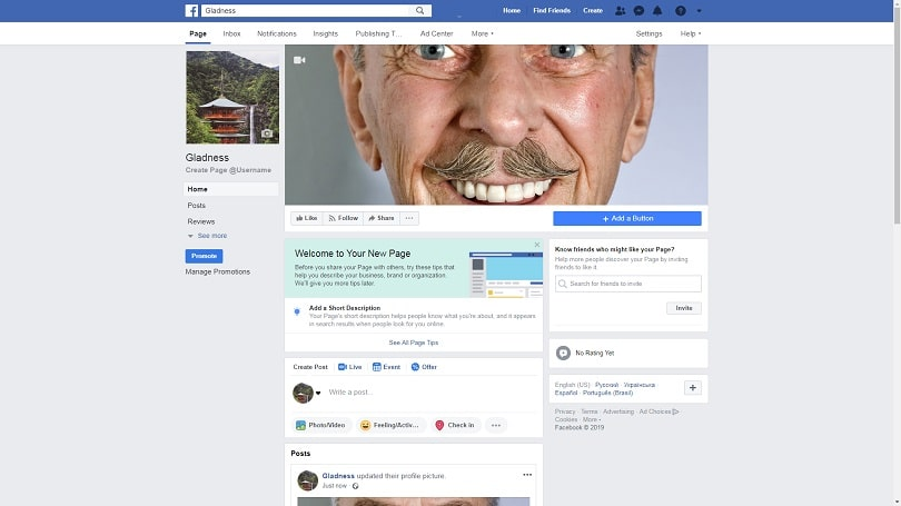 How to create a Facebook Business Page — step five