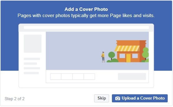 How to create a Facebook Business Page — step four