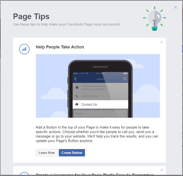 How to create a Facebook Business Page — Page tips