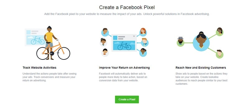 Dynamic product ads on Facebook - create a Pixel