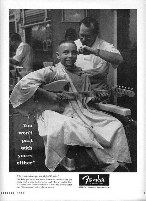 Emotional appeal advertising — Fender in the barbershop