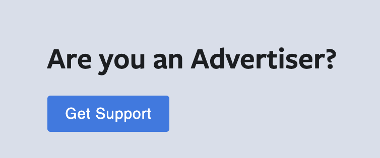 Facebook ad account disabled — get support button
