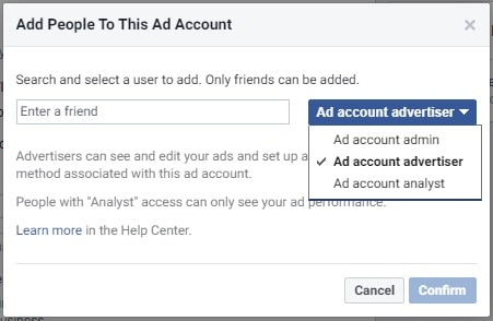Facebook ads manager — members