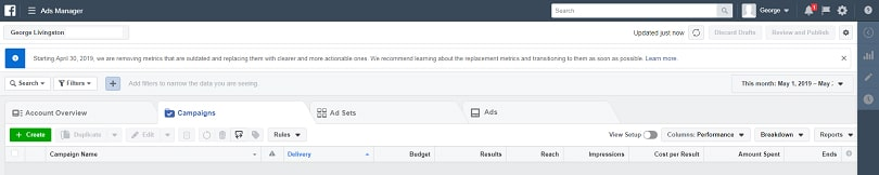 Facebook ads relevance score — Ads Manager