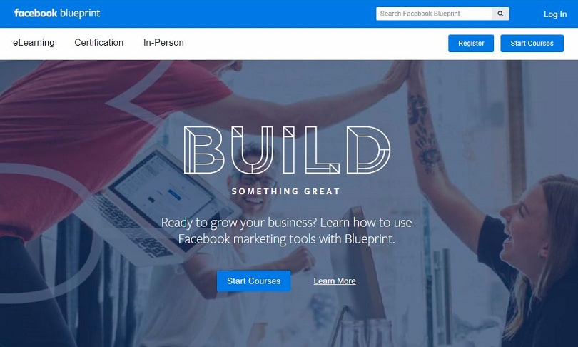 facebook blueprint certification - home page
