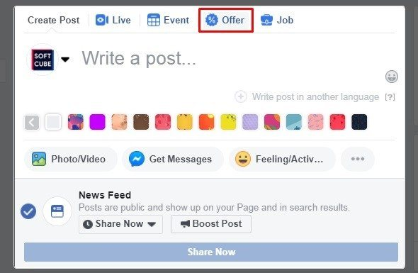 How to sell products on Facebook — Offer Ads