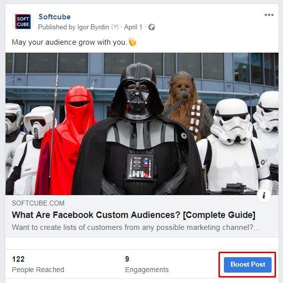 How to sell products on Facebook — Post Engagement