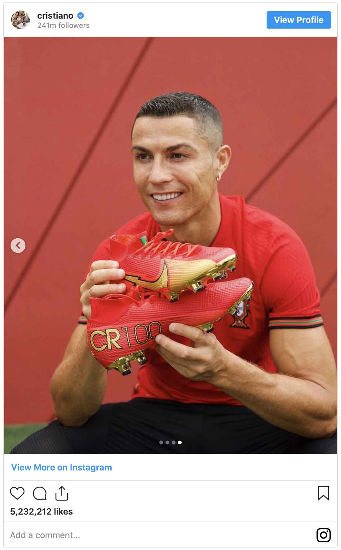Instagram ads examples — Cristiano