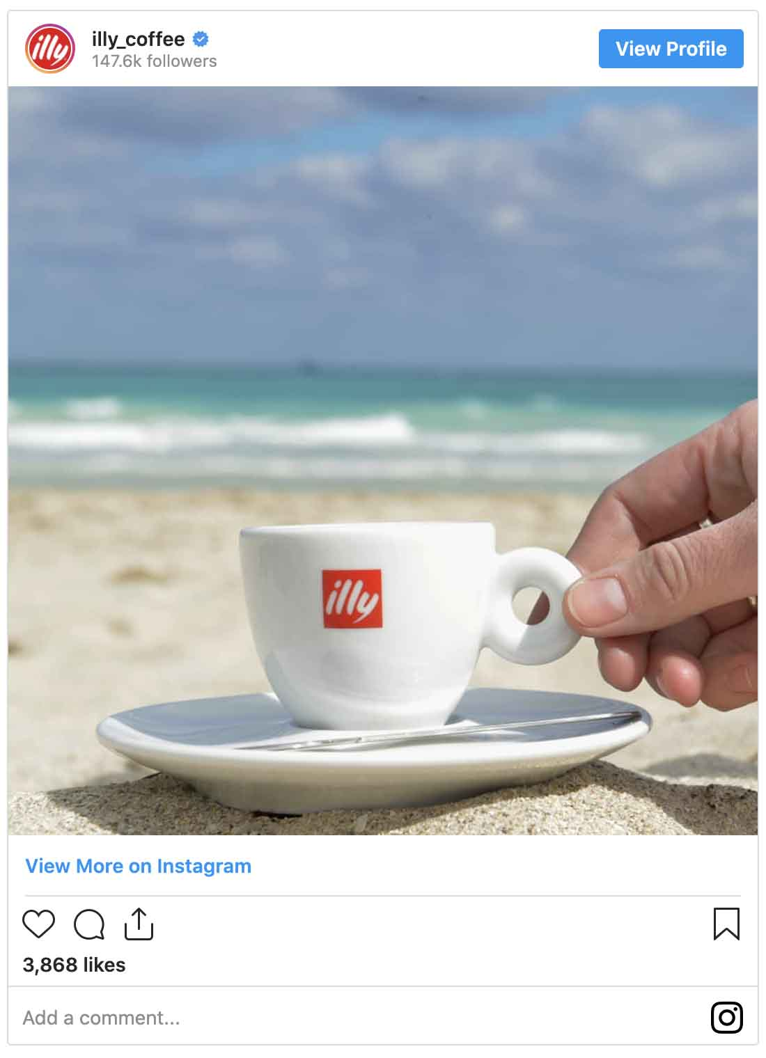 Instagram ads examples — Illy