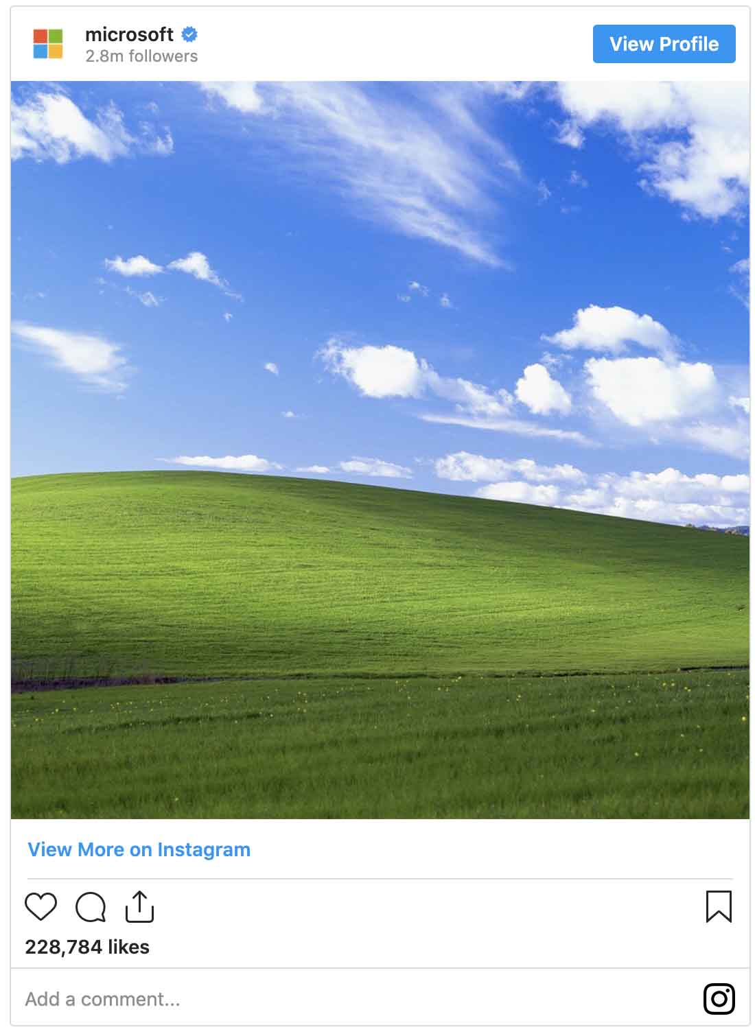 Instagram ads examples — Microsoft