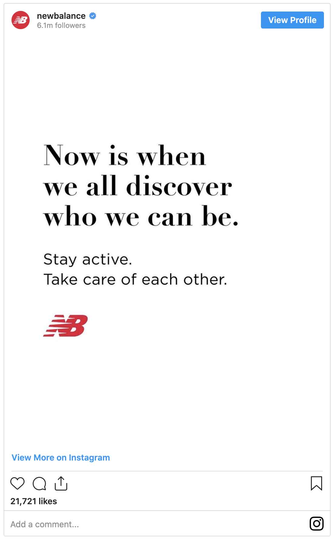 Instagram ads examples — New Balance