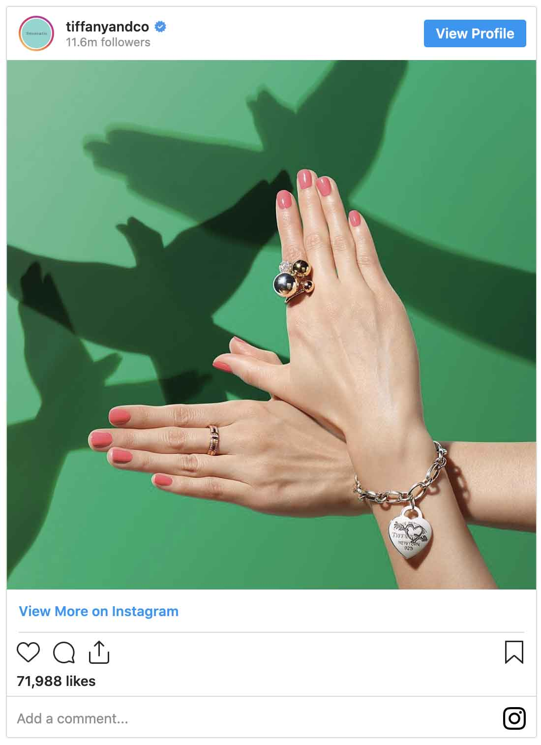 Instagram ads examples — Tiffany and Co