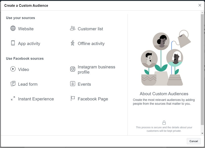 Messenger ads custom audiences