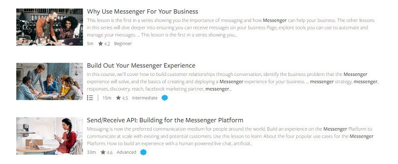 Messenger ads — Facebook Blueprint course